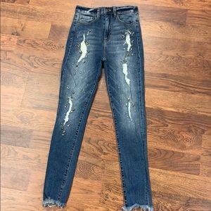 Sneak peek high rise denim jeans